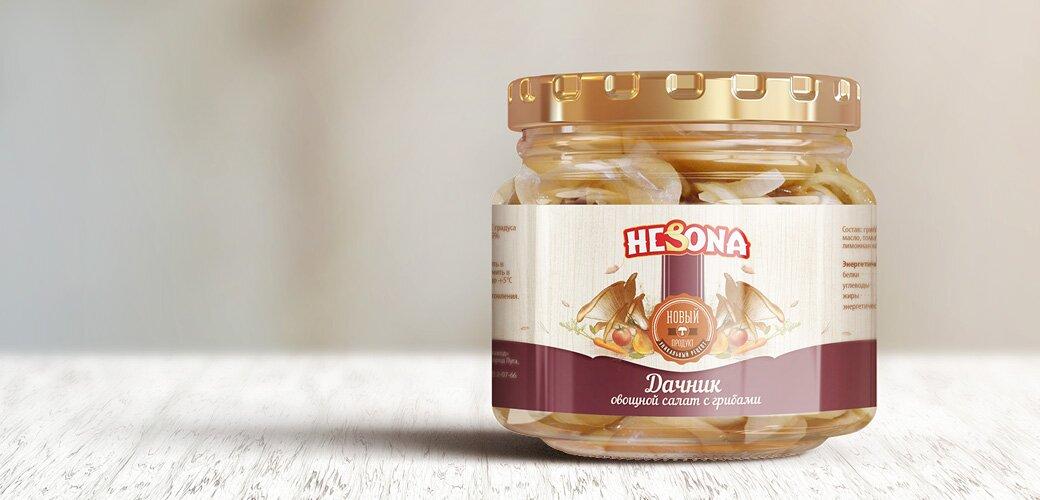 hesona-konservai-dachnik-salat-s-gribami